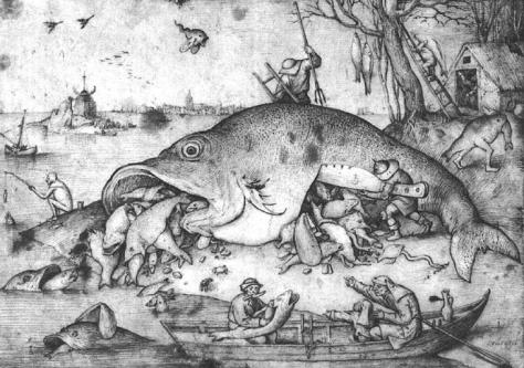 Peixão come peixinho