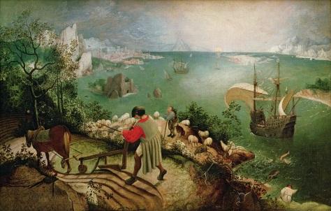 """Pintura de Bruegel, """"Paisagem Com Queda de Ícaro"""""""