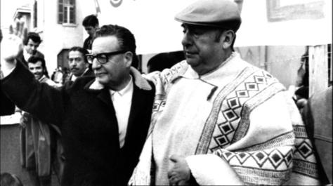 Neruda com o presidente chileno Salvador Allende