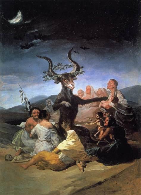 """Pintura de Francisco Goya, """"O Sabá das Bruxas"""""""