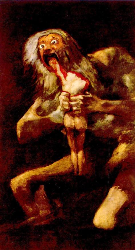 """Goya, """"Cronos Devorando Seu Filho"""""""