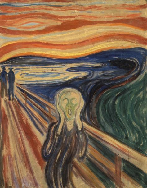 """""""O Grito"""" de Edvard Munch (1863-1944)"""