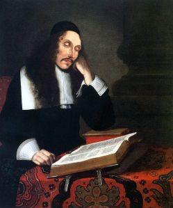 Baruch Spinoza retratado por Franz Wulfhagen, 1664