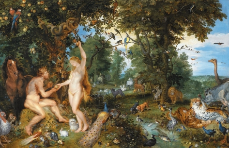 The garden of Eden with the fall of man, by Jan Brueghel de Elder and Peter Paul Rubens