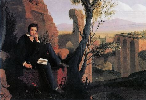 Joseph Severn, Posthumous Portrait of Shelley Writing Prometheus Unbound (1845)