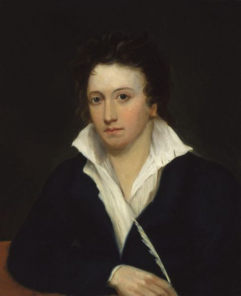 Percy Shelley's portrait by Alfred Clint