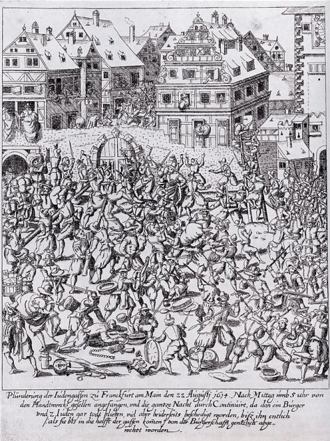 Plundering the Judengasse (Jewish Street) in Frankfurt am Main on 22 August 1614