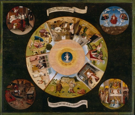 "Hieronymus Bosch - ""The Seven Deadly Sins and the Four Last Things"""