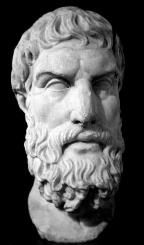 Marble bust of Epicurus. Roman copy of Greek original, 3rd century BC London