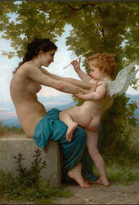 """Garota Defende-se Contra Eros"", de William-Adolphe Bouguereau_(1825-1905)"