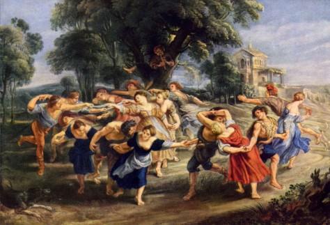 """""""A Dança dos Aldeões"""", de P Paul Rubens"""