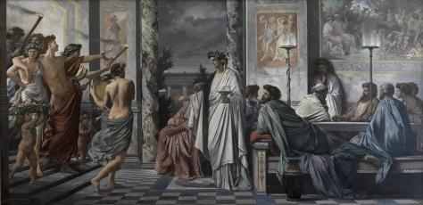 """""""O Banquete"""" (de Platão), por Plato's_Symposium_-Anselm Feuerbach"""
