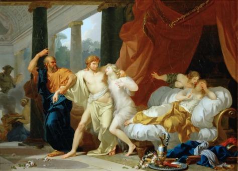"""Sócrates Afasta Alcebíades dos Prazeres Carnansi"", de Regnault (1784)"