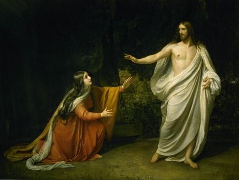Pintura de Alexander Ivanov (1806 - 1858): Cristo aparece a Maria Madalena após a Ressurreição