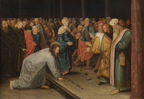 Pieter Brueghel, O Jovem - Cristo e a Adúltera (1600)