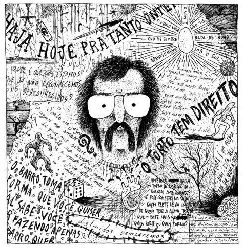 Leminski em Ilustração de Rafael Sica