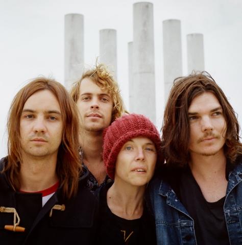 Tame Impala, banda australiana liderada por Kevin Parker (o primeiro à esquerda na foto acima)