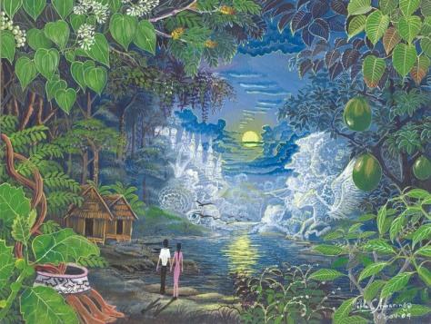 Amazónica Romantica By Pablo Amaringo.