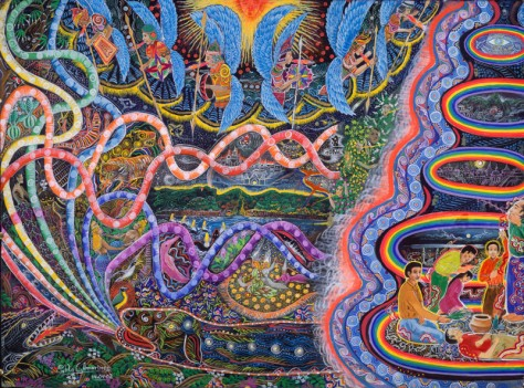 Featured in the book 'The Ayahuasca Visions of Pablo Amaringo' by Howard G Charing & Peter Cloudsley