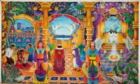 Templo Sacrosanto By Pablo Amaringo