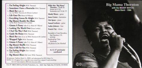 BIG MAMA THORNTON Um dos vozeirões mais poderosos do Blues COM A BANDA DE MUDDY WATERS Baixaê: