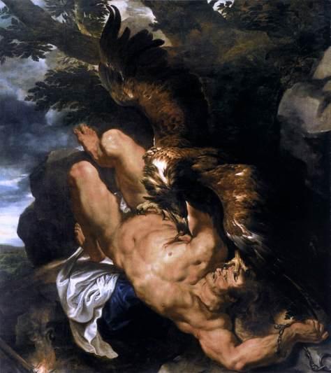 PROMETEU ACORRENTADO - Pintura de Rubens