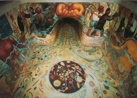 """""""Água - Origem da Vida"""", de Diego Rivera, na Cidade do México"""