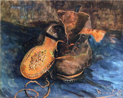 """""""Um Par de Botas"""" (1887), de VIincent Van Gogh"""