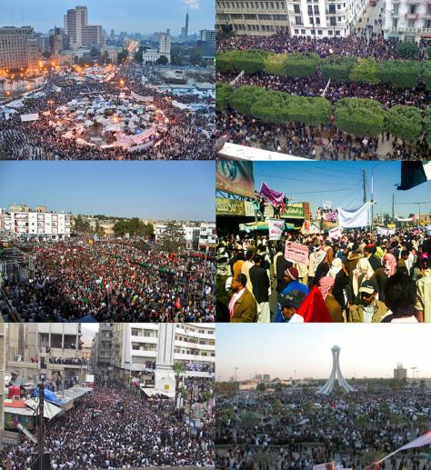 Primavera Árabe (Arab Spring), série de insurreições e revoluções entre 2010 e 2011 na Tunísia, no Egito, na Líbia, no Yemen, na Síria, dentre outros países. Saiba mais na WIkipedia.