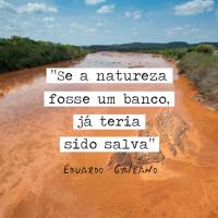 """""""Se a natureza fosse um banco, já teria sido salva."""" - Galeano"""