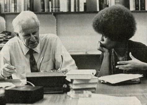 Herbert Marcuse e Angela Davis