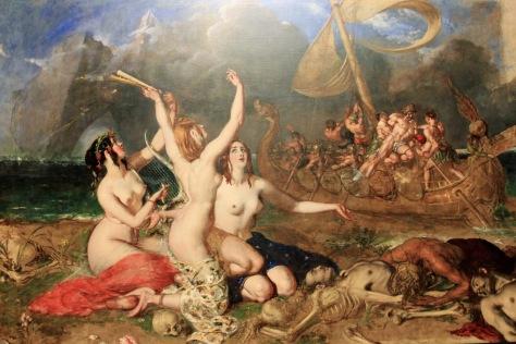 """""""As Sereias e o Navio De Ulisses"""", de William Etty"""