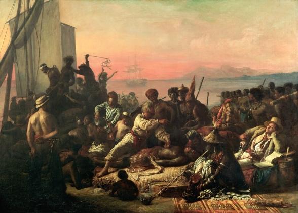 ìntura de Auguste François Biard