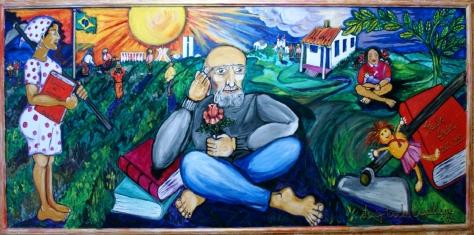 Painel Paulo Freire no CEFORTEPE - Centro de Formação, Tecnologia e Pesquisa Educacional da Secretaria Municipal de Educação de Campinas-SP