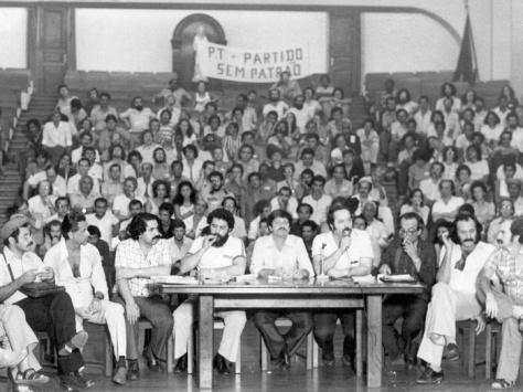 Ato de Fundação do PT - Colégio Sion, SP, 10 de maio de 1980