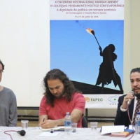 A DIGNIDADE DA POLÍTICA EM TEMPOS SOMBRIOS - Jean Wyllys e Edson Teles debatem no X Encontro Internacional Hannah Arendt (UFG, junho de 2016)