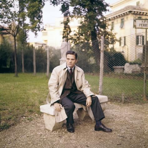 Pasolini em Roma, 1967. Foto de Franco Vitale, Reporters Associati & Archivi Mondadori Portfolio.