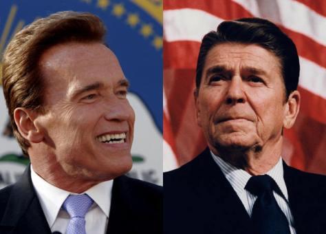 Reagan e Schwarzenegger em 1984