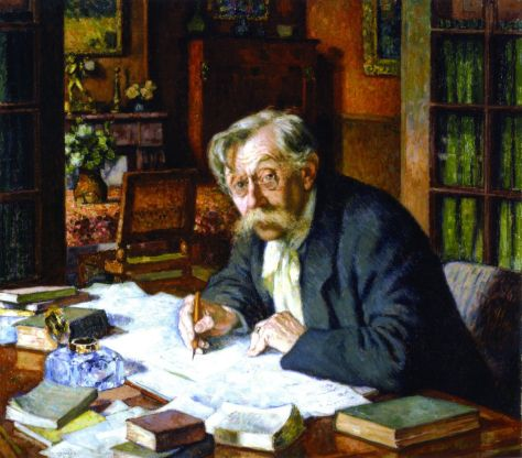 theophile-van-rysselberghe-1862-1926-emile-verhaeren-writing-1915