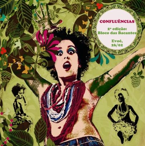 CONFLUÊNCIAS - Festival de Artes Integradas. Evoé Café Com Livros, 26/02, 17 horas. Com Luiza Camilo, quinteto Cocada Preta, Lua Plaza, Morgana Poiesis, além de discotagem e feirão de livros.