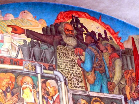 """""""O Camponês Oprimido"""", obra do artista mexicano Diego Rivera (1886 - 1937)"""