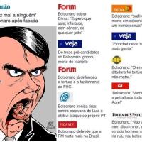 Todo cidadão brasileiro que votar 17 estará mergulhando o dedo no sangue das futuras vítimas da Ditadura Bolsonazista